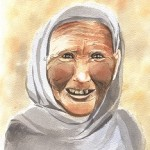 The old woman.